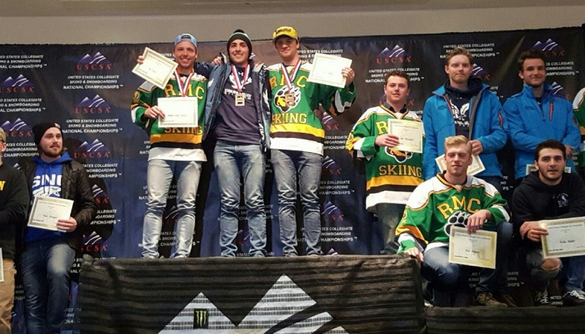 Men's USCSA National GS Awards (From left to right, Andri Arnason, Ivo Ricou, Erik Lund, Elias Stuerz )